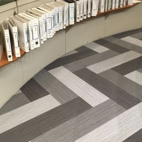 carpets in a library